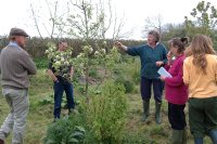 Pat Bowcock giving a tour of Ourganics Forest G